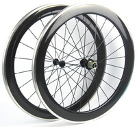 700C chinese oem sticker mixed carbon alloy road bike wheel front wheel 50mm rear wheel 60mm alloy brake surface