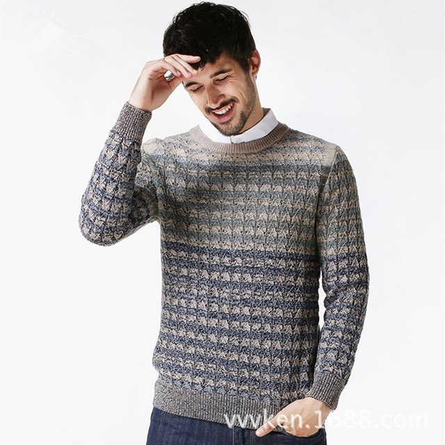 Long Sleeve Men Round Neck Sweater Christmas Mens Jumpers Sweater O Neck Pattern Pullover Men Male Knitting Pullover Jumpers