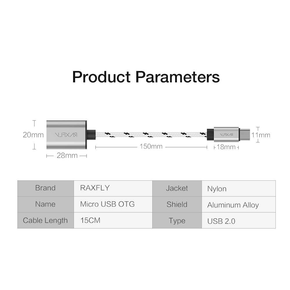 hight resolution of  raxfly micro usb adapter micro usb male to usb 2 0 female otg cable for xiaomi huawei