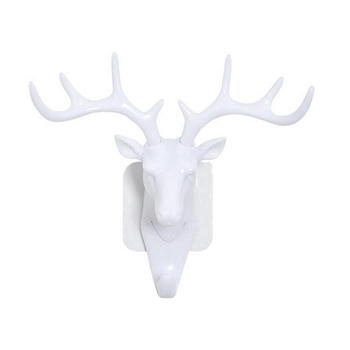 Small Plastic Wall Rack for Living Room Hat Bag Key Jewelry Rack Deer Head Decor Hook Organizer 1