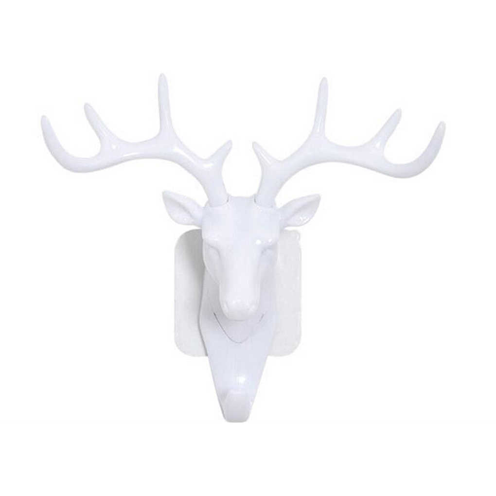 Маленькая пластиковая настенная стойка для гостиной шляпа сумка ключ Вешалка для украшений голова оленя Декор крючок Органайзер