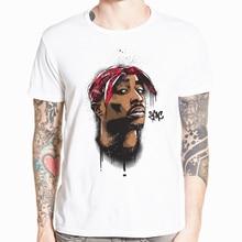 Hecoolba 2017 Men's print tupac 2pac T-shirt Short sleeve O-Neck White Tshirt Hip Hop Swag harajuku Streetwear T shirt HCP287