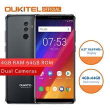 OUKITEL K8 Android 8.0 Smartphone MTK6750T Octa Çekirdek 4 GB RAM 64 GB ROM 6.0