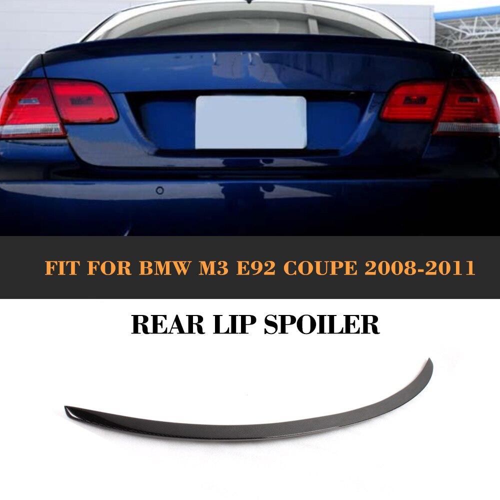 Carbon Fiber Tail Trunk Boot Lip Rear Spoiler Wing for BMW E92 M3 M Sport Standard 08-11 320i 325i 328i 330i 335i Car Cover m performance style carbon fiber rear trunk wing spoiler for bmw 3 series f30 2012 2018 318i 320i 328i 330i 335i