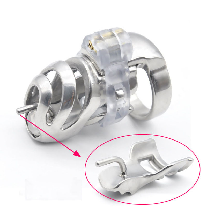 CB6000s metal cock cage stainless steel male chastity device short penis cage prevent masturbator for men adult sex toys metal cockring penis cage with anti off ring stainless steel male chastity device adult sex toys cock rings for men cb6000s