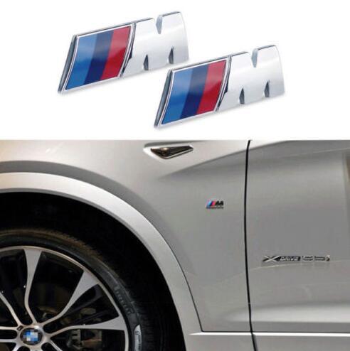 20pcs Lot Premium M Sport For Bmw Car Chrome Emblem Wing Badge Logo