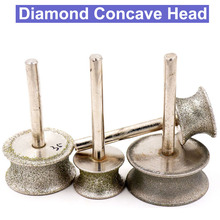 6mm Shank Diamond Concave Polishing Grinding Head Abrasive T