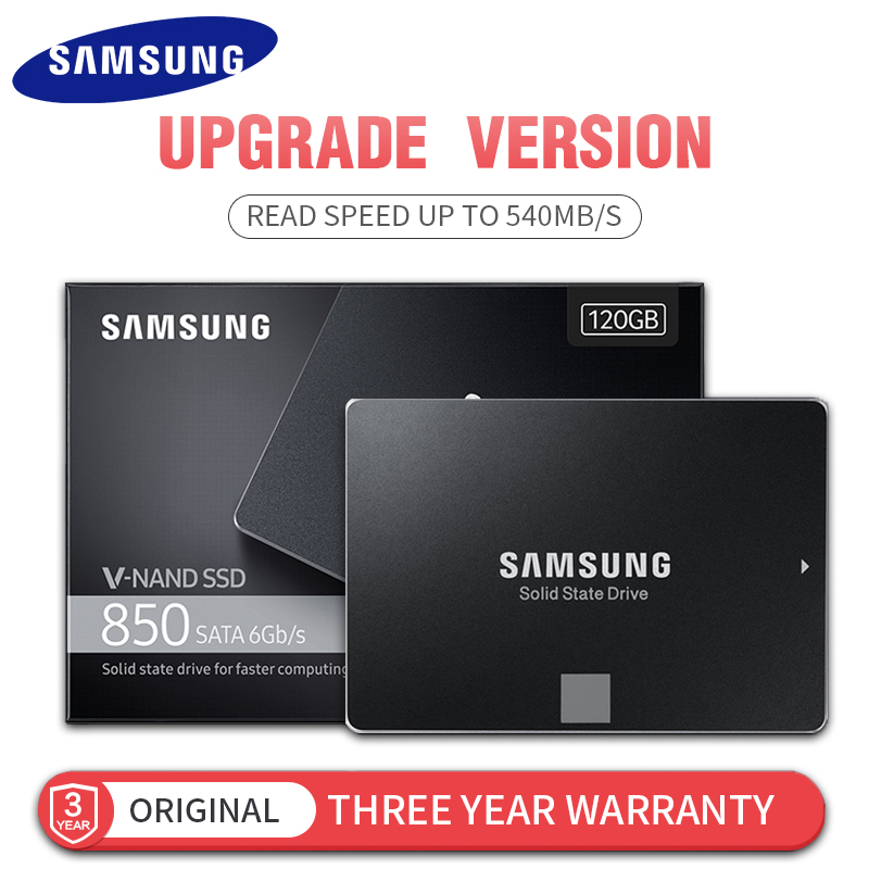 SAMSUNG New Version Genuine 120GB 850 SATA 6Gb/s Internal Solid State Disk R/W speed Up to 540MB/S SSD for Laptop Desktop PC