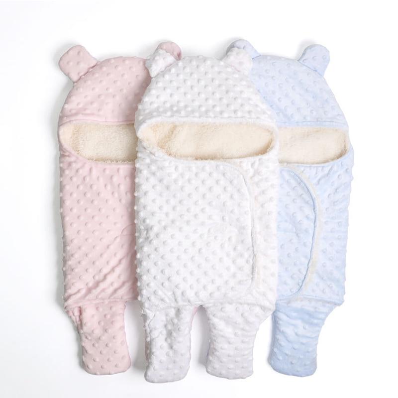 Hot Sale Baby Sleeping Bag Knitted Solid Swaddle Blanket Footmuff Sleepsacks Winter Warm Infants' Blankets Newborn Wrap Bedding
