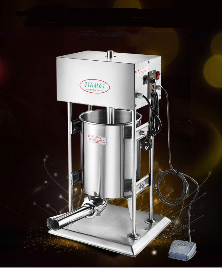 15L Vertical Commercial Electric Sausage Filling Machine 304 Stainless Steel Automatic Sausage, Ham Sausage Filling  Machine