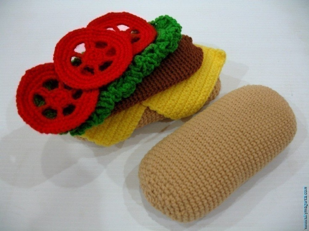 armigurumi crochet rattle toys  play food   model number 15750armigurumi crochet rattle toys  play food   model number 15750