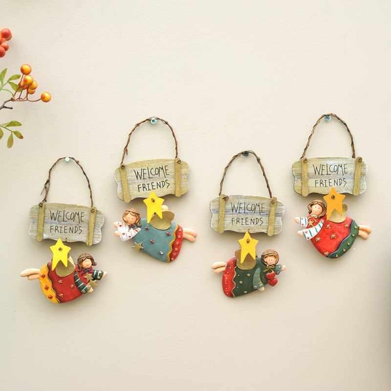 Moda vintage in resina piccolo angelo decorazione della casa finaning, porta targa. Segno di benvenuto. Pendant. pingente de resina