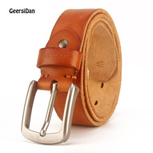 GEERSIDAN 2018 men belt cow genuine leather luxury strap male belts for men new fashion classice vintage pin buckle dropshipping benjamin clementine benjamin clementine at least for now