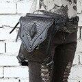 Calidad superior de LA PU de Cuero Bolsa de Pierna Gota Fanny Pack PU Gothic Punk Rock Motociclista de cuero Mujeres Mensajero Del Hombro de La Cintura bolsas