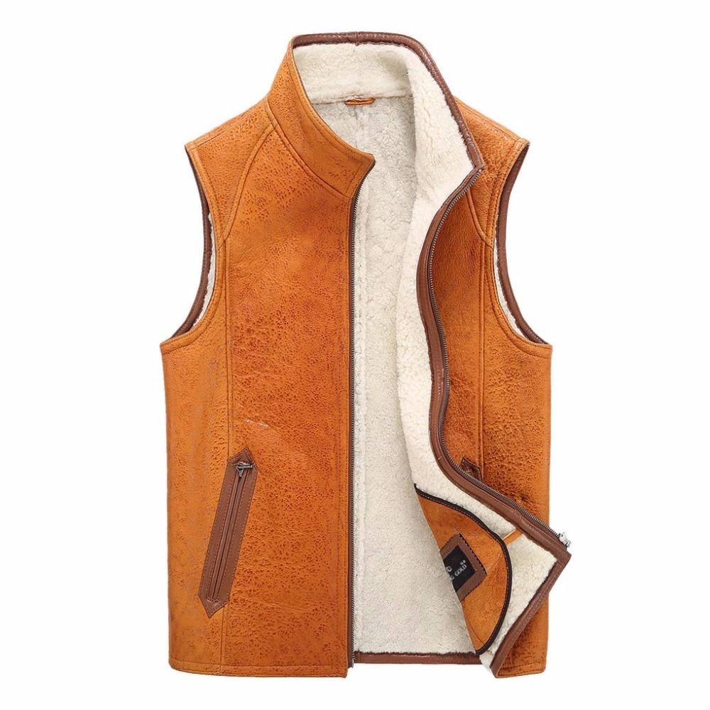 leather suede men genuine sheepskin vest men fur vest. Black Bedroom Furniture Sets. Home Design Ideas
