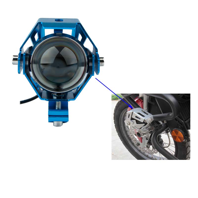 Ovovs one pair factroy price 50w motorcycle led light for for Dc motor light led