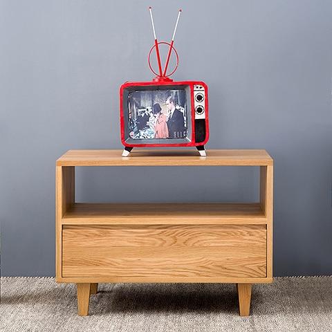 moderne minimalistische woonkamer slaapkamer tv meubel scandinavische japanse kleine appartement massief hout tv meubel hout