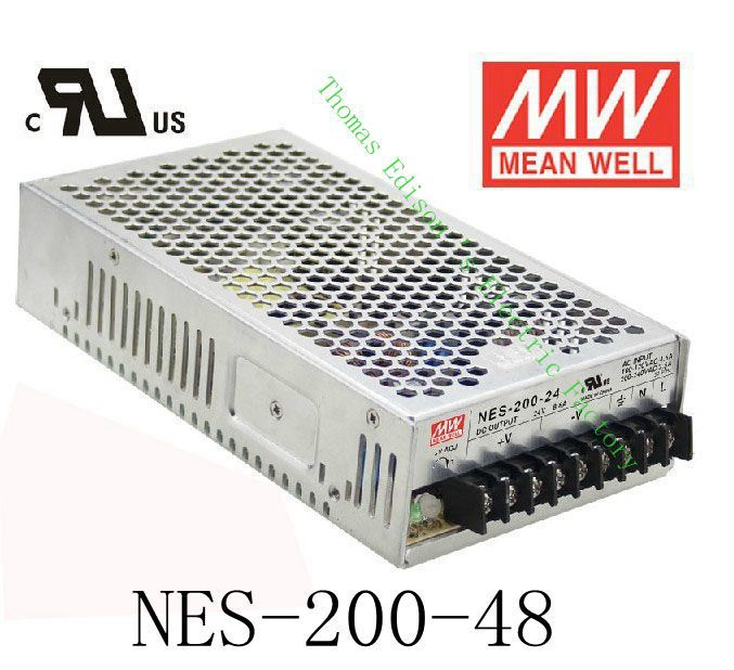 Original MEAN WELL power suply unit ac to dc power supply NES-200-48 200W 48V 4.4A MEANWELL meanwell 12v 75w ul certificated nes series switching power supply 85 264v ac to 12v dc