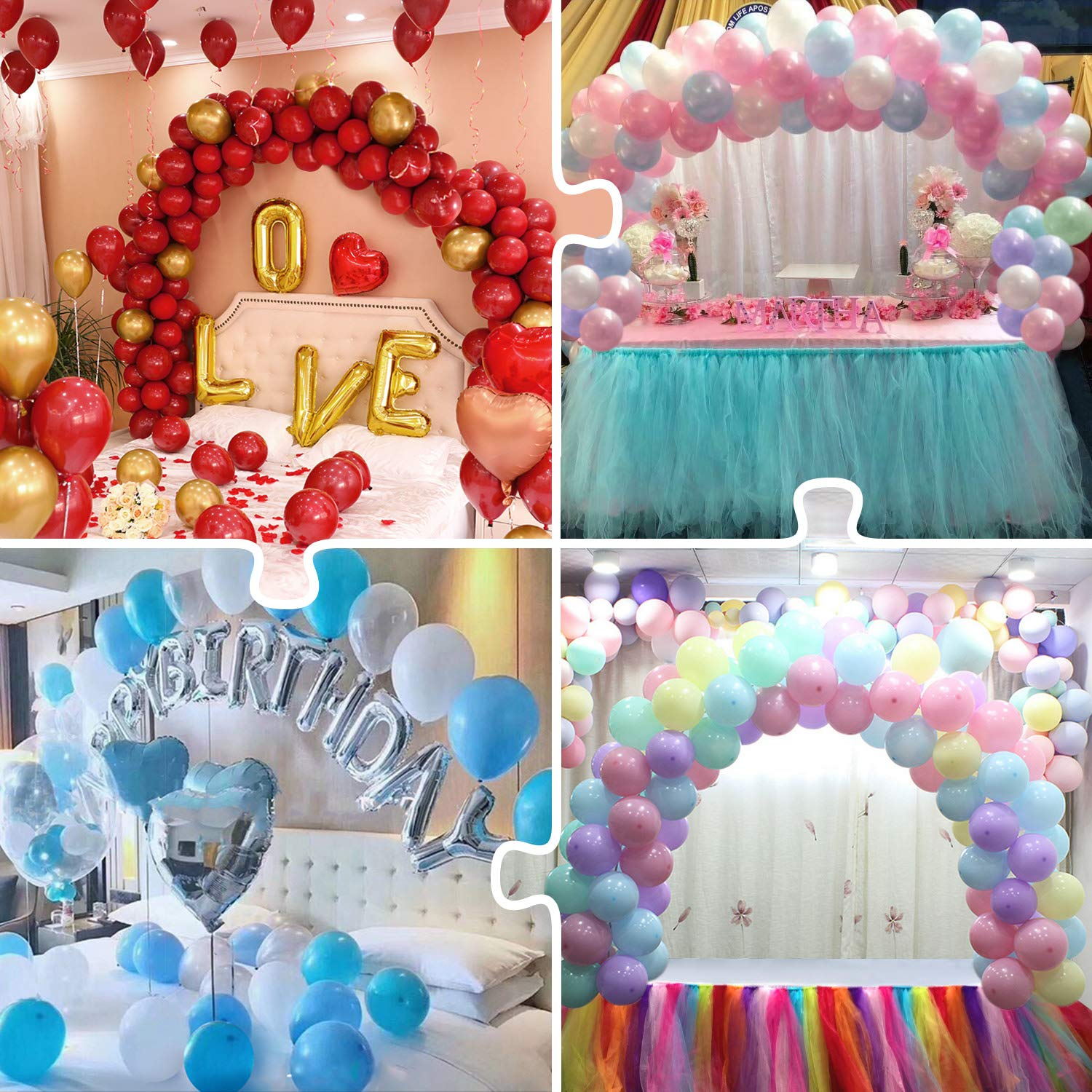 7/10 Tube Birthday Balloon Stand With Stick Holder For Wedding Decorations 31