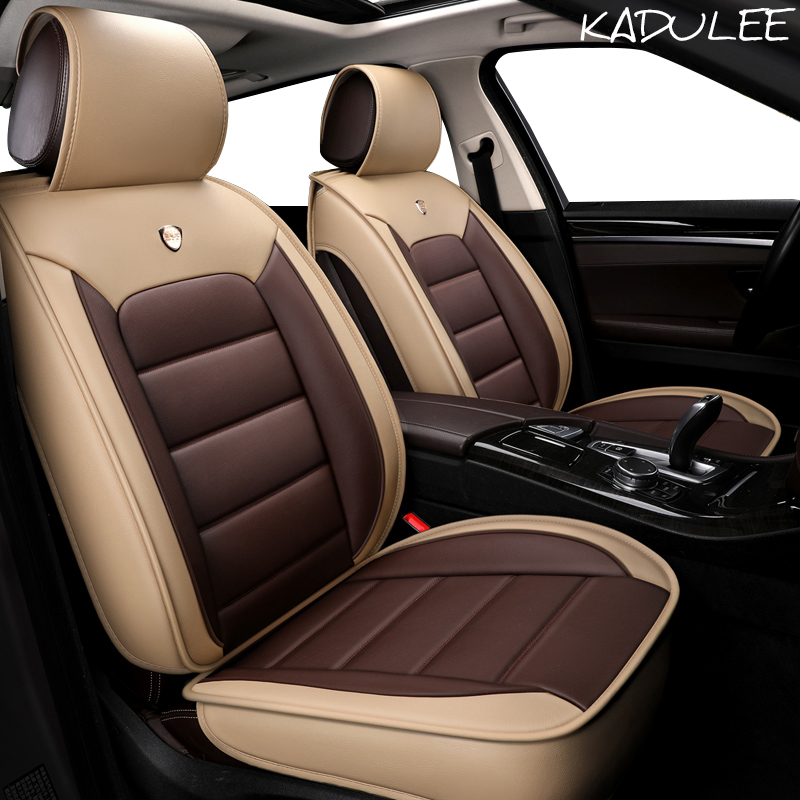 KADULEE Luxury Leather car seat cover for acura mdx rdx zdx jaguar f pace xf xj