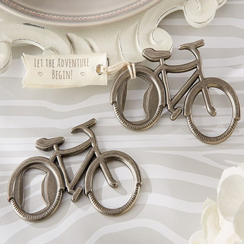 "DHL wedding favor gift and giveaways-- ""Let's Go On an Adventure"" Bicycle Bottle Opener party favor souvenir 100pcs/lot"