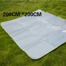 100cm-300cm foldable sleeping pad with storage bag outdoor waterproof aluminum foil eva camping mat