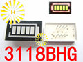 FREE SHIPPING 10PCS x 5 Segment Battery Style LED Digital Tube Display Yellow Green LED Inner + Red LED Outer 3118BHG
