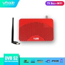 Vmade полностью HD цифровой DVB S2 спутниковый ТВ приемник Поддержка интерактивное телевидение CCcam H.264 MPEG 2/4 HD 1080 p DVB S2 ТВ тюнер с USB wifi