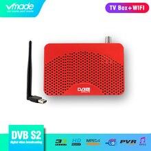 Vmade Volledig HD Digitale DVB S2 Satelliet TV Ontvanger Ondersteuning IPTV CCCAM H.264 MPEG 2/4 HD 1080 p DVB s2 TV Tuner met USB WIFI