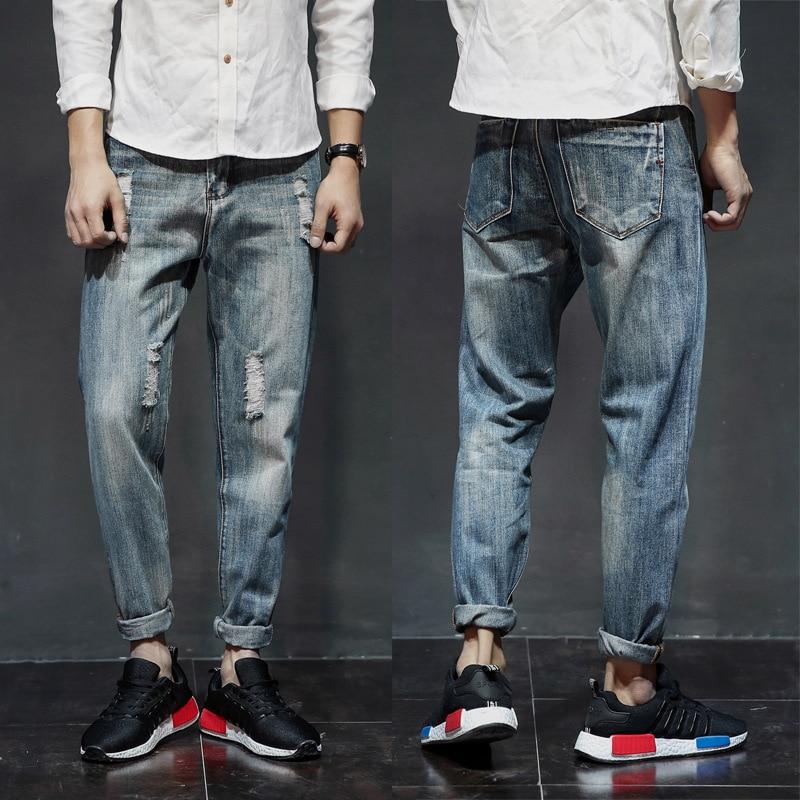 Cheap Wholesale 2019 New Autumn Winter Hot Selling Men's Fashion Casual  Denim Pants MP429
