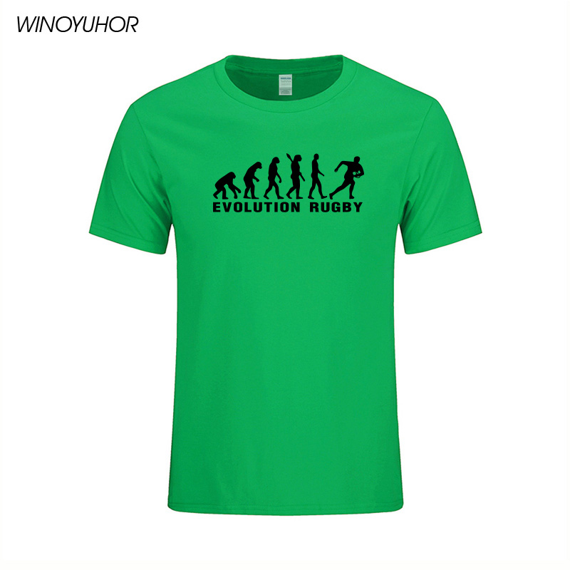 Evolución Rugby Impreso Algodón Camisetas Hombre Casual Manga Corta - Ropa de hombre - foto 5