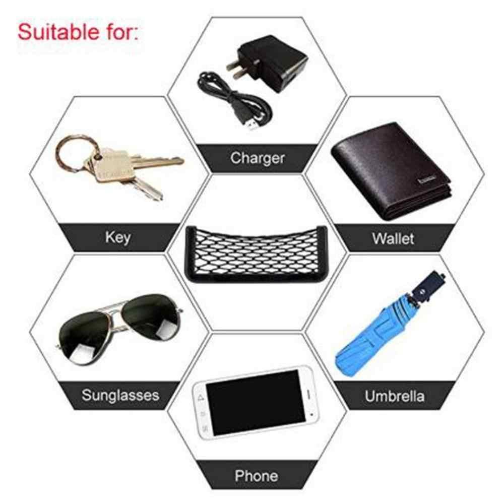 Mały samochód Seat Side powrót torba do przechowywania bagażu worek strunowy Mesh organizer kieszeniowy Stick-on dla portfel telefon