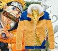 Наруто узумаки наруто ниндзя косплей пальто куртки зима толстый теплый меховой воротник костюм снаряжение хлопка мягкой одежды