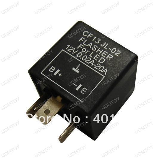 10pcs 3 Pin Electronic Flasher Relay module CF13 Fix LED Turn Signal Light Error Flashing Blinker