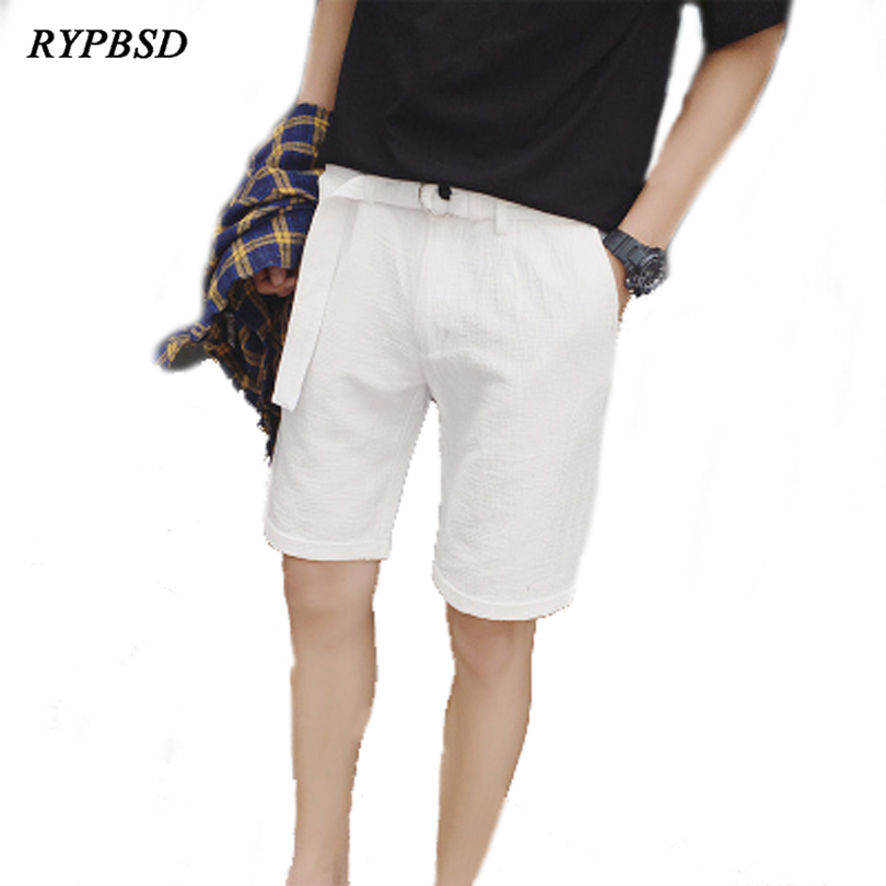 Japanese Style Summer New Men Loose Style Men Shorts 2018 Men Shorts White Casual Knee Length Short