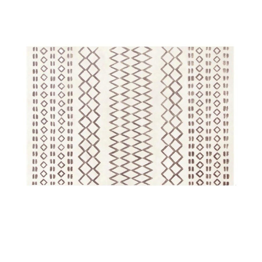 Nordique noir blanc salon couloir tapis géométrique indien tapis plaid rayé moderne salon design Kilim tapisserie