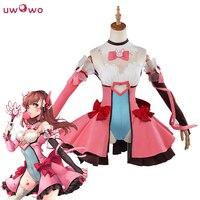 UWOWO волшебная девушка DVA Косплей D. VA игра OW Kawaii Девушка розовое платье костюм волшебная девушка D. va Косплей Dva костюм женщины