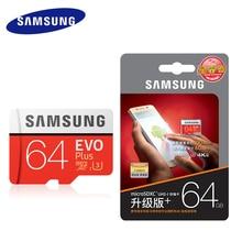 SAMSUNG Micro SD 64 ГБ и 128 Гб карты памяти 32 GB 16 GB EVO plus Class10 TF карты C10 SDHC/SDXC для мобильного телефона с упаковки