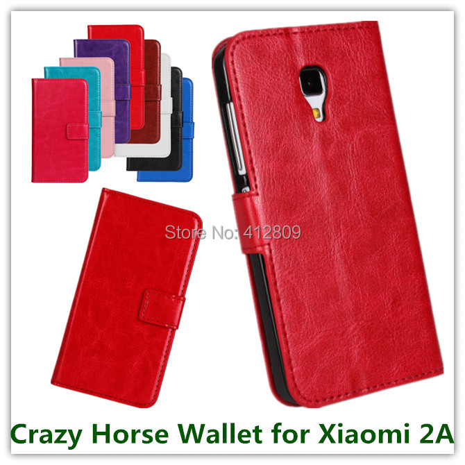 1PCS Elegant Pink Crazy Horse Leather Stand TV Show Wallet Pouch Cover Case for Xiaomi 2A High Quality Free Cellphone Bags