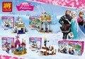 4 unids LELE Bloques Set Amigos Princesa Castillo Kristoff Olaf Anna Elsa Mini-Muñeca de Juguete Figuras Compatible Legoe amigos