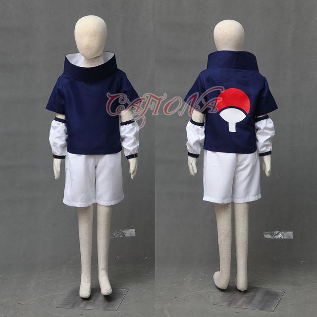 Uchiha Sasuke Cosplay Costume Outfit with Headband