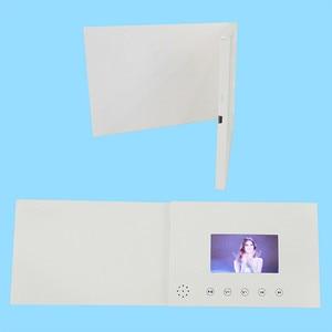 Image 3 - 4.3 cala nowe broszury wideo karty do prezentacji cyfrowy odtwarzacz reklamowy 4.3 calowy ekran wideo kartka z życzeniami 256m na sprzedaż