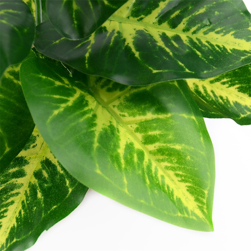 Image 5 - 1Bunch 28CM/48CM  Artificial Silk Green Scindapsus Aureus Leaf for Wedding Decorations Fake Bonsai Tree Plant  Accessories-in Artificial Plants from Home & Garden