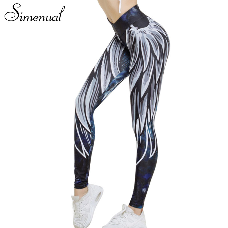 Simenual Harajuku 3D wing leggings for women 2018 push up sporting fitness legging athleisure bodybuilding sexy women's pants