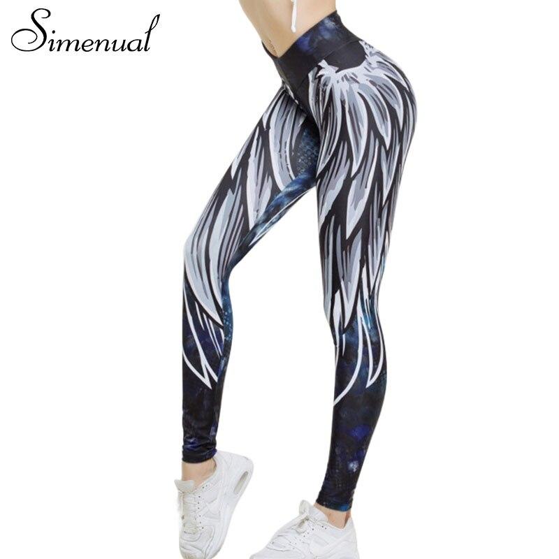 Simenual Harajuku 3D flügel leggings für frauen 2018 drücken sporting fitness legging freizeitsport bodybuilding sexy frauen hosen