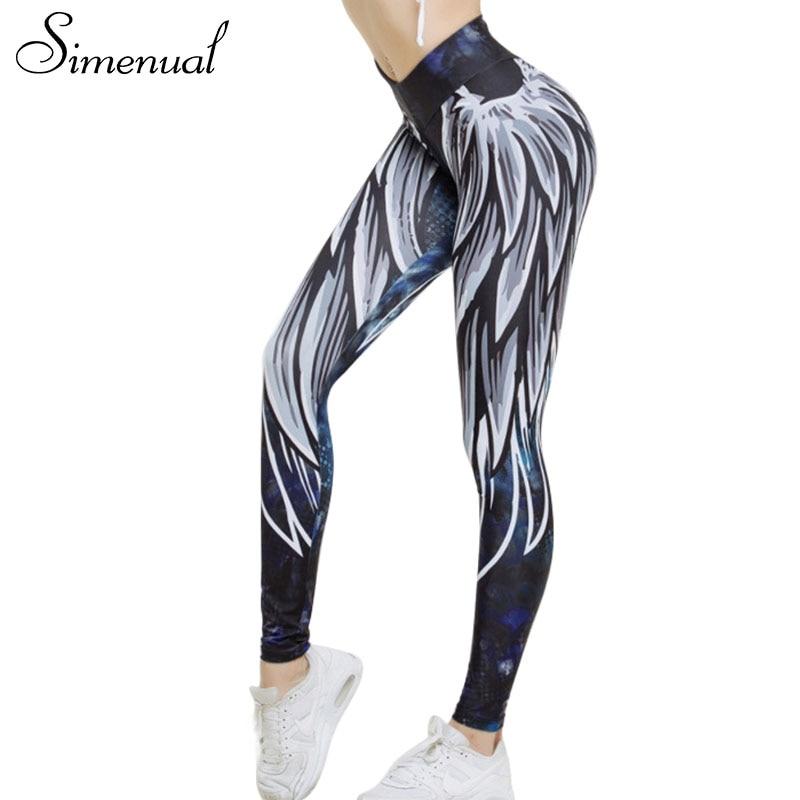 Simenual Harajuku 3D wing leggings for women 2018 push up sporting fitness legging athleisure bodybuilding sexy women's pants