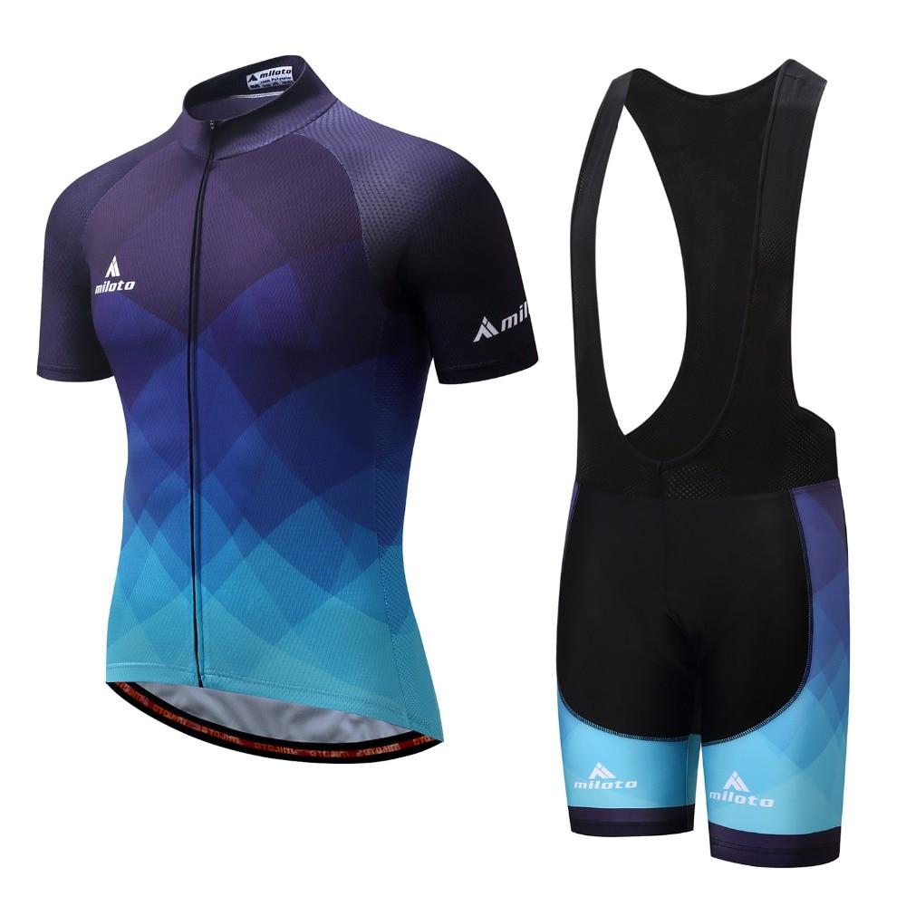 Männer Fahrrad Jersey Radfahren Trägerhose Maillot Ciclismo Pro MTB Bisiklet Kleidung Sommer Männlichen Team Ropa Fahrrad Top Wear Anzug 2018