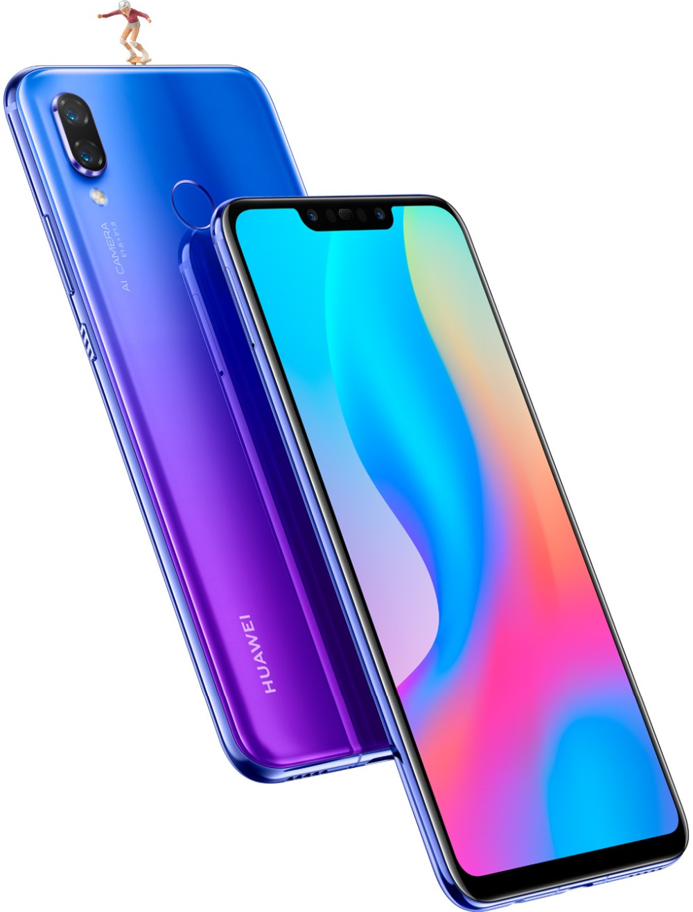 Huawei nova 3 nova 3 6 ГБ ОЗУ 64 ГБ/128 ГБ ПЗУ мобильный телефон Kirin 970 Qcta-core Dual фронтальная/задняя камера 24.0MP + 2.0MP 24.0MP + 16.0MP