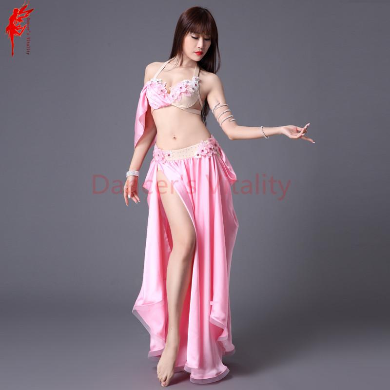 Girls belly dance clothes Women bra top+skirt 2pcs women performance ... e69b56e380d1