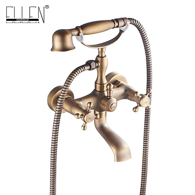 Bathtub faucet antique brass with hand shower wall mounted bath mixer tap все цены